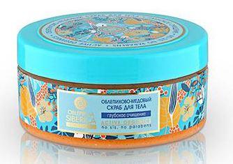 Kem tẩy da chết toàn thân body scrub NATURA SIBERICA tinh dầu hắc mai biển và mật ong