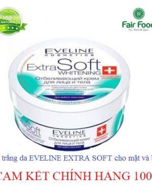 Kem trang da eveline whitening extra soft cho mat va body
