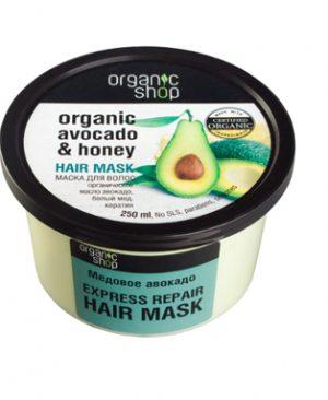 Kem u toc huu co Organic Shop phuc hoi khan cap voi Bo va Mat ong