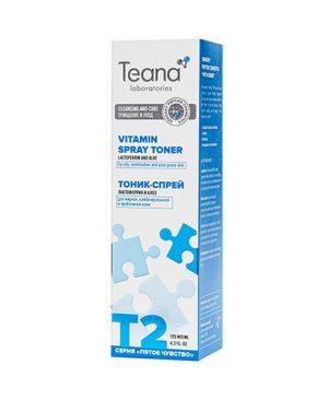 Nước hoa hồng kiêm xịt khoáng Teana T2 cho da dầu và hỗn hợp loại bỏ bóng dầu,chống viêm,điều trị các vấn đề về da