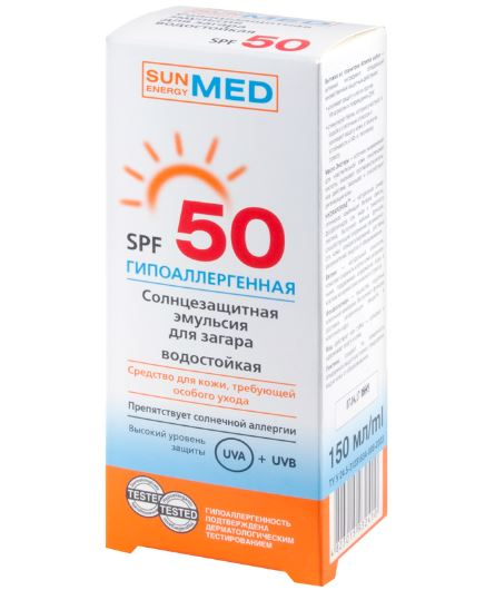 Kem chong nang nhu tuong Sun Energy Med SPF50 UVA,UVB khong troi ,chong kich ung cho da nhay cam