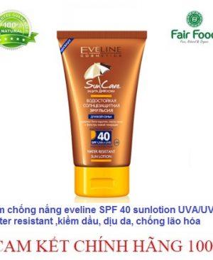 kem chong nang eveline spf 40 chong tham nuoc, kiem dau, chong lao hoa, bat tong ko troi