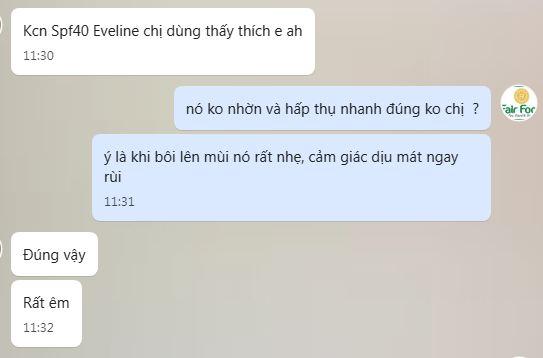 review km chong nang spf 40