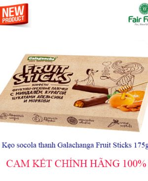 Keo socola hanh nhanh GALAGANCHA FRUIT STICKS mat ong, socola, mo3
