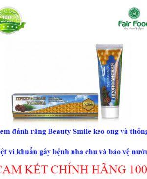 kem danh rang beauty smile chiet xuat thong va keo ong diet vi khuan gay hai cho rang mieng