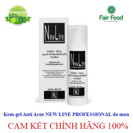 kem gel duong tri mun Anti Acne NEW LINE PROFESSIONAL cua NGA