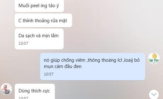 review muoi peel tao chong viem thong thoang lcl loai bo mun cam dau den