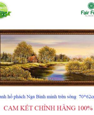 tranh ho phach cao cap NGA BINH MINH TREN DONG SONG 72 х 52 cm1