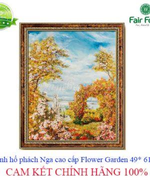 tranh ho phach cao cap NGA Flower Garden 49 x 61 cm fairfood