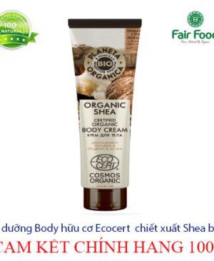 kem body duong da huu co chuan Ecocert Planet Organica chiet xuat Shea butter