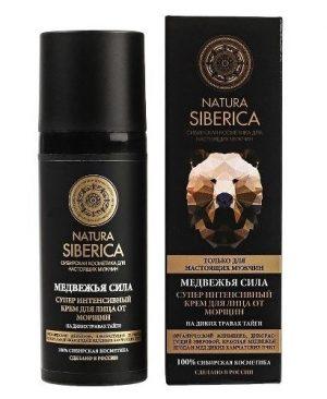 Kem dưỡng da cho nam Bear Power Natura Siberica cải thiện da, xóa nếp nhăn và làm phẳng mịn da
