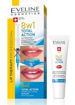Serum cang mong moi Eveline 8 in 1 total action lip filler with collagen va hyaluronic