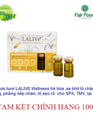 serum Lalive WELLNESS cosmetic cao cap tre hoa da tri ro lo chan long to tang sinh collagen fairfood 2