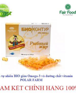 Dau ca tu nhien BIO POLAFARM giau OMEGA 3 va duong chat vitamin tôt cho than kinh, tim mach va giam cholesteron fairfood1