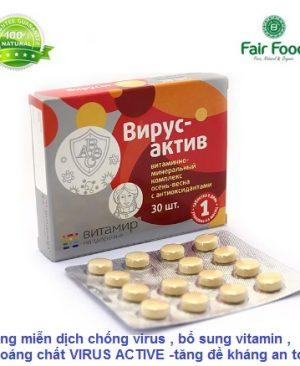 tang cuong mien dich chong cum virus ,bo sung vitamin tong hop chat chong oxy hoa VIRUS ACTIVE cua nga fairfood1