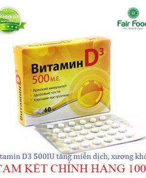 vitamin D3 500IU tang mien dich, xuong khop , chong dich covid